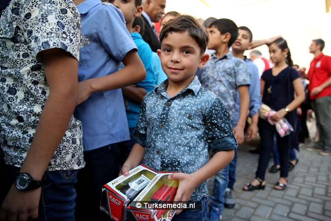 Feest in Gaza Turkse hulp gearriveerd (5)