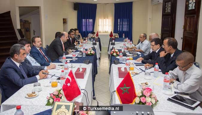 Turkse delegatie naar broederland Marokko (2)
