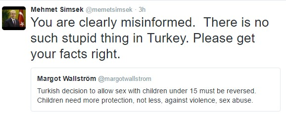 Turkse vicepremier corrigeert Zweedse minister 'Dat is dom'