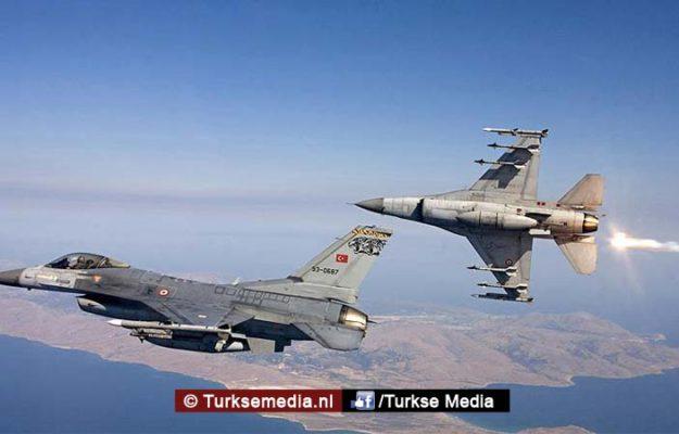 Turkije vernietigt 15 Daesh-doelen (IS) in 15 minuten in Syrië