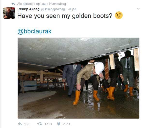 Turkse minister tegen BBC Check mijn gouden laarzen1