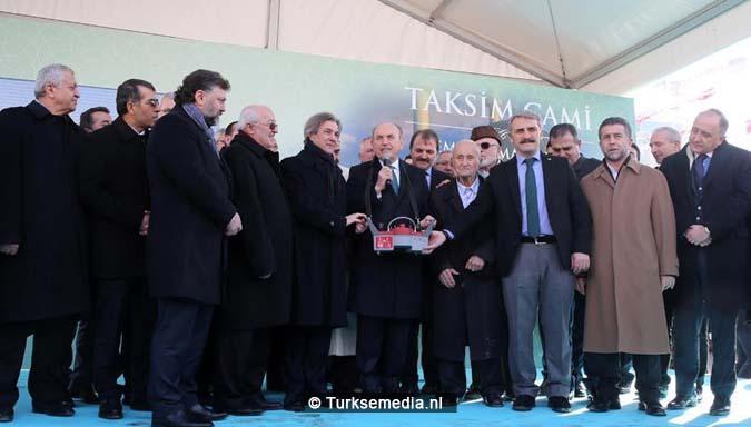 Turkije start bouw langverwachte moskee op Taksimplein4