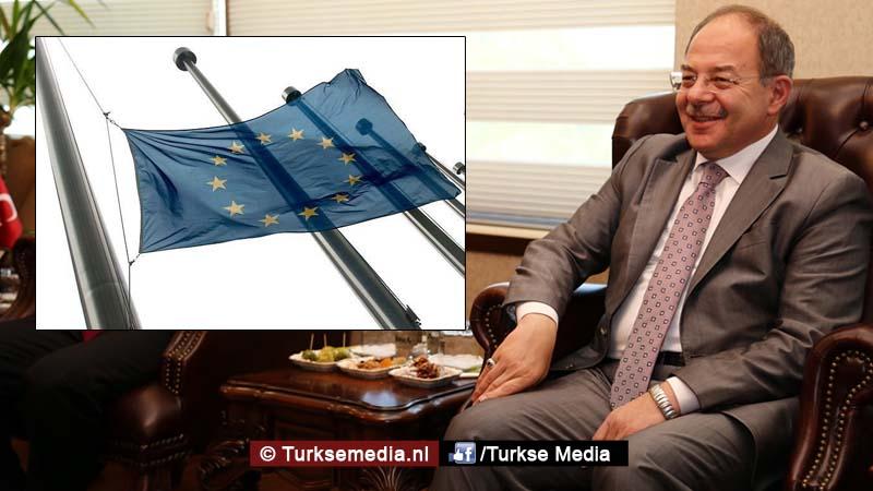 Turkse minister Europa is nu ver achter Turkije