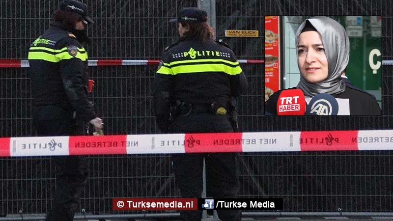 Nederland sluit weg af nu Turkse minister met auto komt