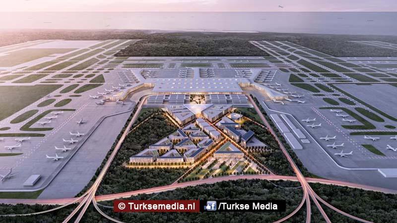 Turken bouwen keihard aan grootste megavliegveld terminal bijna klaar