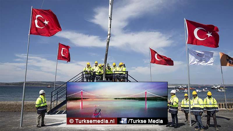 Turkije start bouw langste brug ter wereld