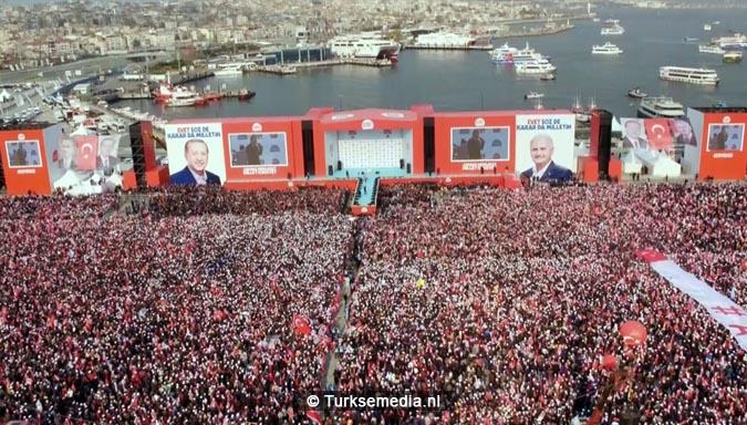 Miljoen Turken roepen 'ja' tijdens megacampagne Istanbul6
