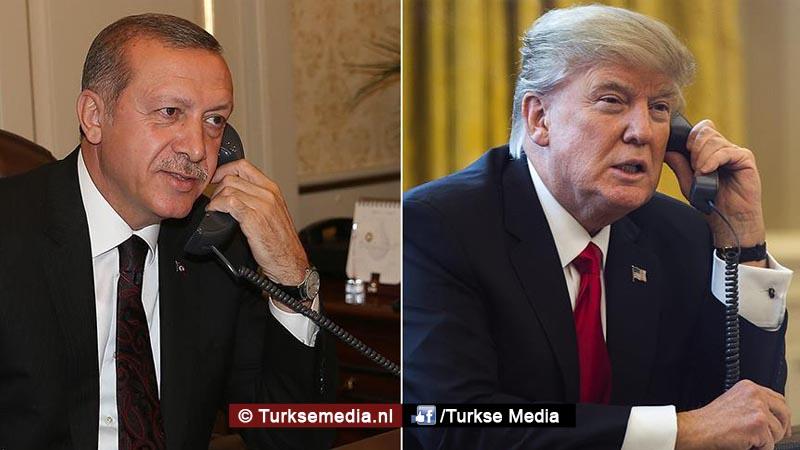 Trump feliciteert en bedankt Erdogan