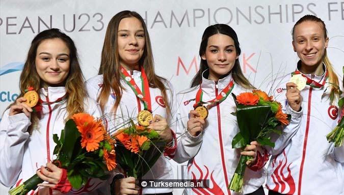 Turkse dames Europees kampioen schermen2