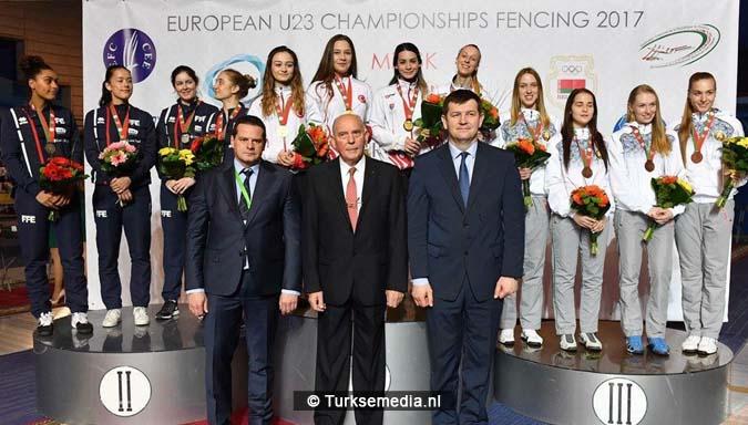 Turkse dames Europees kampioen schermen3