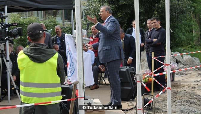Krachtige boodschap tijdens bouw nieuwe Turkse moskee Den Haag8