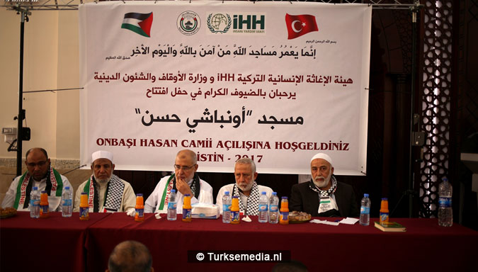 Turken openen moskee in Gaza Palestijnen lovend2