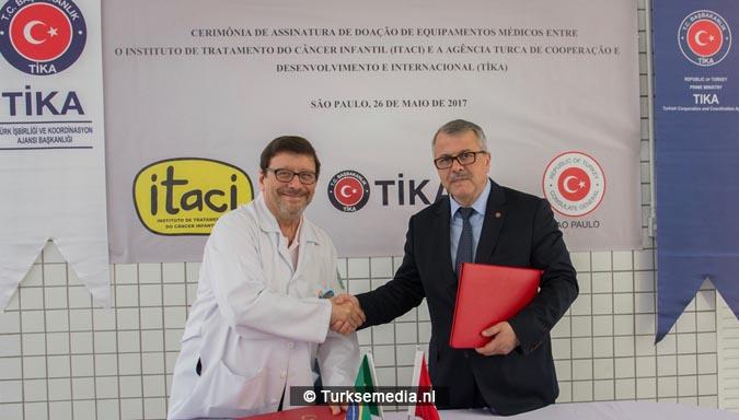 Turkije stuurt hulp naar Brazilië voor kinderen met kanker