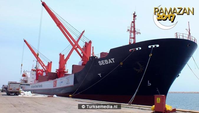Turkse megahulp eerste schip in opdracht van Erdogan klaar voor vertrek2