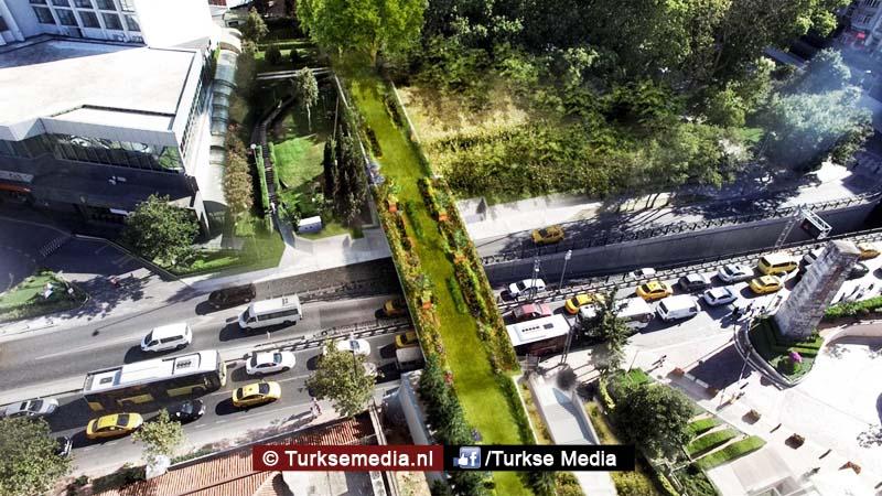Turkse megastad krijgt een ecologische loopbrug