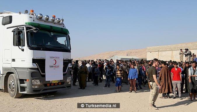 Gigantische hulp Turkije aan Syriërs in Syrië 40.000 vrachtwagens