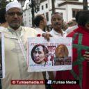 Marokkanen protesteren tegen afslachting moslims in Myanmar