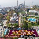 Turkije toont grootste tulpentapijt ter wereld: 'De tulp komt uit Turkije'