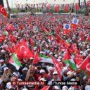 Half miljoen Turken bijeen voor Palestina: 'Verenig je tegen zionisten'