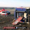 Aardverschuiving oorzaak treinongeluk Turkse stad Tekirdağ