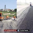 Turkije asfalteert wegen Syrische stad Afrin