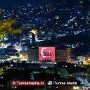 Turkse vlag geprojecteerd in Bosnische hoofdstad
