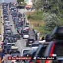Lange rijen bij Turkse grenspost Kapıkule richting Bulgarije
