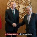 Guterres prijst Turkije enorm: 'Uitstekende samenwerking VN-Turkije'