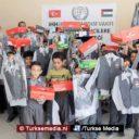 Turken sturen schoolspullen naar arme Palestijnse kinderen in Gaza