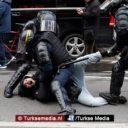 Veel arrestaties en bloed tijdens protesten in Frankrijk