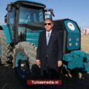 Erdoğan test elektrische tractor van Turkse makelij