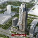 Turken bouwen hoogste wolkenkrabber van Centraal-Azië