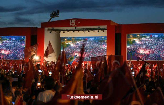 Zo herdacht heel Turkije 15 juli, president reageert zeer opmerkelijk