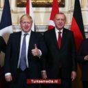 Erdoğan confronteert Macron, Merkel en Johnson met de Turkse vuist in Syrië