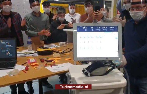 Turkije toont beademingsapparatuur van eigen makelij