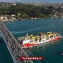 Turks boorschip voor eerste olie- en gasmissie naar Zwarte Zee