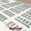 Turken bouwen huizen voor vluchtelingen in Syrisch Idlib