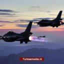 Turkse straaljagers jagen Griekse F-16's weg