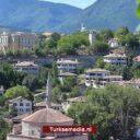 Stormloop naar historische Turkse stad