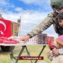 Turkse militairen zorgen voor blije gezichten in Syrië