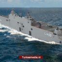 Turkije wordt grotere zeemacht dankzij vliegdekschip van eigen makelij
