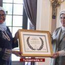 VN bekroont first lady Turkije met 'Global Champion Award'