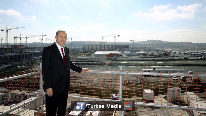 erdogan bezoekt bouw grootste luchthaven ter wereld turkse media exclusief turks nieuws in. Black Bedroom Furniture Sets. Home Design Ideas